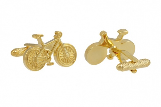 Gold Colour Classic Bicycle Cufflinks
